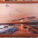 Narancs naplemente - eredeti akrilfestmény, Képzőművészet, Festmény, Akril, Akril, farost 30x40 cm, kerettel 33x43 Kerettel együtt, Meska
