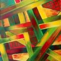 Az élet szövete, Képzőművészet, Festmény, Olajfestmény, Akril, vászon, 42x58 cm Keret nélkül    , Meska
