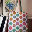 Nagyon színes táska , Táska, Válltáska, oldaltáska, Szatyor, Tarisznya, Egyedi, saját gyártású táska, jó nagy, akár strandtáskának is használható.  30*C-on mosható.  Ajándé..., Meska