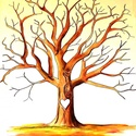 Ujjlenyomat fa, Képzőművészet, Grafika, Rajz, Fotó, grafika, rajz, illusztráció, A3 méretű famentes rajzlapra rajzolt ujjlenyomat fa.  A fa alá a pár neve kerül, festve, vagy rajzo..., Meska