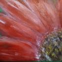 Gerbera, Képzőművészet, Festmény, Akril, Akril festmény 18x24cm méretű kartonvászonra festett., Meska