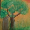 Visszatérés, Képzőművészet, Festmény, Akril, Akril festmény 18x24cm méretű kartonvászonra festett, Meska