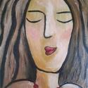 Álom, Képzőművészet, Festmény, Akril, Akril festmény 18x24cm méretű kartonvászonra festett, Meska