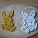 Nyuszi sütemény kiszúró forma, Konyhafelszerelés, 3D eljárással készült sütemény kiszúró forma.  Mérete a legszélesebb pontjain:9x5,5cm., Meska