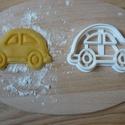 Autó sütemény kiszúró forma, Konyhafelszerelés, Baba-mama-gyerek, Mindenmás, 3D eljárással készült sütemény kiszúró forma.  Mérete a legszélesebb pontjain:8x5,5cm., Meska