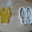 Nyuszi sütemény kiszúró forma, Konyhafelszerelés, Mindenmás, 3D eljárással készült sütemény kiszúró forma.  Mérete a legszélesebb pontjain:7,5x6cm., Meska