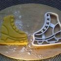 Korcsolya , süteménykiszúró., Konyhafelszerelés, Férfiaknak, Mindenmás, 3D eljárással készült sütemény kiszúró forma.  Mérete a legszélesebb pontjain: 8x8 cm., Meska