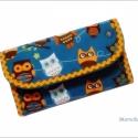 Bagolymintás  pénztárca, Méret: 17 x 10 cm  Pamutvászonból készült. Be...