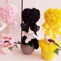 Köszönőajándék /Kedves rózsaszív asztaldísz, A hungarocell szívet színes habrózsával vontam...