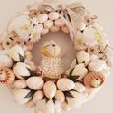 Bolyhos barika/húsvéti kopogtató, Az alap teljes felületét tojásokkal  és krém ...