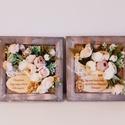 Esküvői köszönőajándék édesanyák részére/ idézettel, A 20 x 20 cm méretű antikolt barna keretbe elős...
