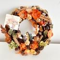 Helló Ősz/kopogtató, A koszorú alapot termésekkel és virág díszekk...