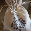 """Esküvői  """"pénzes"""" zsák, Dekoráció, Esküvő, Nászajándék, Dísz, Varrás, Egyedi feliratozású, varrott textil zsák, mely kiváló esküvőre ajándékozott pénz átadására. Méret: ..., Meska"""