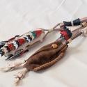 pásztorkészség, Férfiaknak, Hagyományőrző ajándékok, Nyers marhabőrből készült bicskatok színes pillangókkal díszítve, + 1 db erszény, melyet  a tapló és..., Meska