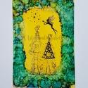 """,,Tündérlak"""" egyedi művészi tündéres kép, falikép, dekoráció, Baba-mama-gyerek, Otthon, lakberendezés, Gyerekszoba, Baba falikép, Festészet, Papírművészet, Képeim a tündérek varázslatos piciny világába repítenek, hiszen nem csak a gyermekeket, a felnőttek..., Meska"""