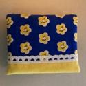 Mini neszesszer (tampontár), Táska, Neszesszer, Pénztárca, tok, tárca, Kék alapon sárga virágos és sárga pamutvászonból készült ez a mini neszesszer, mely tampont..., Meska