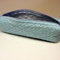 Kék pipere/tolltartó/tároló, Táska, Neszesszer, Ez a kis remek tároló tökéletes a női táskába piperének vagy tolltartónak, de bármi tárol..., Meska
