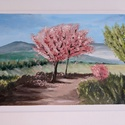 Tavasz, Művészet, Festmény, Akril, Festészet, Tavaszi tájkép 50*60 cm feszített vászon. Jó minőségű akril festékkel dolgozom. Szeretem a jól pigm..., Meska