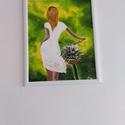 Biciklis lány, Művészet, Festmény, Akril, Festészet, A híres biciklis lány, akril, élénkebb megfestése. 50*60 cm farost. Jó minőségű akril festékkel dol..., Meska