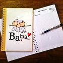 kismadaras babanapló sárga , Baba-mama-gyerek, Naptár, képeslap, album, Baba-mama kellék, Jegyzetfüzet, napló, Fotó, grafika, rajz, illusztráció, Egyedi készítésű, vidám mintás babanapló, babaváró könyvecske, ajándéknak is tökéletes választás!  ..., Meska