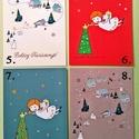 karácsonyi képeslap, Naptár, képeslap, album, Képeslap, levélpapír, Karácsonyi képeslap egyedi grafikával, magas minőségű képeslapkartonból MOST KEDVEZMÉNYES ÁRON!  12 ..., Meska