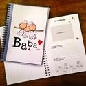 kék babanapló , Baba-mama-gyerek, Naptár, képeslap, album, Baba-mama kellék, Egyedi készítésű, vidám mintás babanapló, babaváró könyvecske, ajándéknak is tökéletes választás!  A..., Meska