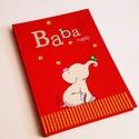 kiselefántos babanapló - KEMÉNYTÁBLÁS, Baba-mama-gyerek, Naptár, képeslap, album, Jegyzetfüzet, napló, Egyedi készítésű, vidám mintás babanapló, babaváró könyvecske, ajándéknak is tökéletes választás!  A..., Meska