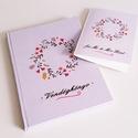 esküvői vendégkönyv/jegyzetfüzet/fotóalbum ajándék névre szóló üdvözlőlappal, Esküvő, Naptár, képeslap, album, Nászajándék, Fotóalbum, Csodaszép esküvői vendégkönyv a legszebb pillanatok megörökítésére, most ajándék üdvözlőlappal bármi..., Meska