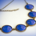 Persian Blue - királykék tűzzománc nyaklánc, Ékszer, Nyaklánc, Hűsítő kék színben készült z a tűzzománc nyaklánc, ami garantáltan magára vonzza a tekin..., Meska