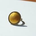 Charteuse kerek tűzzománc gyűrű, Ékszer, óra, Gyűrű, Ékszerkészítés, Tűzzománc, Tüzesen energikus és elengáns darab ez a kerek burgundi vörös (bordó) tűzzománc köves gyűrű. Gyűrű ..., Meska