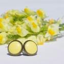 PiciKék - Kanári sárga mini tűzzománc bedugós pötty fülbevaló, Ékszer, Fülbevaló, A szolidabb stílus kedvelőinek készült ez a kanári sárga tűzzománc mini bedugós fülbevaló antik réz/..., Meska