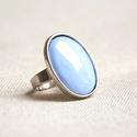 Horizont kék ovális tűzzománc gyűrű, Ha szereted a különleges gyűrűket, tetszeni fo...