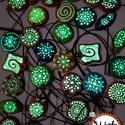 TÜNDÉRFÉNY NYAKÉKEK 2580 Ft/db, Ékszer, Nyaklánc, Medál, Kerámia,  Akrillal festett kerámia medálok egyedi minta alapján.   A legjobb minőségű foszforeszkáló festékk..., Meska