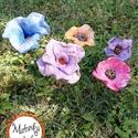 virág 5db, Otthon & lakás, Lakberendezés, Kerti dísz, Kaspó, virágtartó, váza, korsó, cserép, Kerámia, Festett tárgyak, Egyedi kézzel formázott (nem sablon alapján készült )festett kerámia. Rozsdamentes acél a szára mér..., Meska