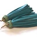 Spirit Turquoise-extra bojt fülbevaló valódi bőrből, Ékszer, Fülbevaló, Extra és mutatós fülbevaló különleges türkiz színben valódi bőrből. Hétköznapokra és a..., Meska