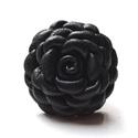 Fekete elegancia- extra virágos gyűrű valódi bőrből, Ékszer, Gyűrű, Ezt a különleges virágot fekete valódi bőrből készítettem, szirmait egyenként alakítottam aprólékos ..., Meska