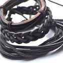 Chocolate-unisex karkötő csomag valódi bőrből-akció, Ékszer, Karóra, óra, Egyedi és különleges design karkötők valódi bőrből aprólékos munkával, töredék áron. A..., Meska