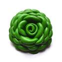 Borsó-virág valódi bőrből, Ékszer, Bross, kitűző, Egy pici virág extra zöld színű bőrből, nagyon egyedi látványt nyújt! Az ékszert egyéni t..., Meska