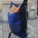 KRISZTA hátizsák / kék -okker