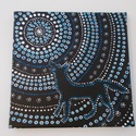 Éjszaka, Képzőművészet, Dekoráció, Festmény, Akril, Festészet, Aboriginal festmény  A képen egy aboriginal technikával készült festmény látható, amely az ausztrál..., Meska