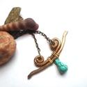Greek Beauty, Ékszer, óra, Nyaklánc, Kicsit aranysárgás vastag bronz drótból hajlítottam ezt a kis nyakéket, görög mintát követ..., Meska