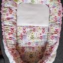 Rózsaszín baglyos Babafészek, Baba-mama-gyerek, Gyerekszoba, Falvédő, takaró, Varrás,  Ez a kényelmes és biztonságos babafészek újszülött és néhány hónapos babák számára készült.Mindkét..., Meska