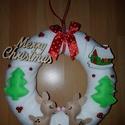Kar?csonyi ajt?d?sz, Dekoráció, Ünnepi dekoráció, Karácsonyi, adventi apróságok, Karácsonyi dekoráció, ., Meska