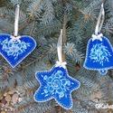 Kézzel festett 3db-os karácsonyfa dísz