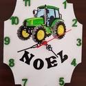 Traktoros falióra, Baba-mama-gyerek, Otthon, lakberendezés, Falióra, óra, Gyerekszoba, ., Meska