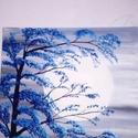 Holdfény, Otthon, lakberendezés, Képzőművészet, Festmény, Akril, 50*50-es vászonra készült, akril festékkel, Meska
