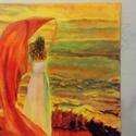 Alkony, Otthon, lakberendezés, Képzőművészet, Festmény, Akril, 50*50-es vászonra készült, akril festékkel, Meska