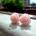 Halványrózsaszín rózsás fülbevaló, Nőies halványrózsaszín rózsa a fülbedbe:)Nag...