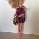 Barbi ruha 2017 - es nyári kollekció., Játék, Baba játék, Játékfigura, Horgolás,              A kollekció darabjai :               - melírozott pántos ruha          - hozzá illő, m..., Meska