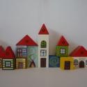 Meseváros nagy fakockakészlet , Játék, Fajáték, Logikai játék, Készségfejlesztő játék, Ebből a készletből igazi kisvárost lehet építeni! A játék fejleszti a kreativitást a logikát az épít..., Meska